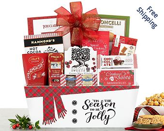 Holiday Sweets Gift Basket Gift Basket  Free Shipping