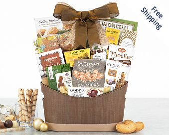 Godiva Chocolate and Sweets Gift Basket FREE SHIPPING