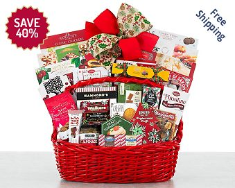 Holiday Cheer Gift Basket FREE SHIPPING 40% Save Original Price is $ 80.00