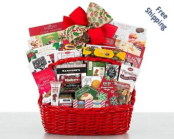 Merry Christmas Gift Basket FREE SHIPPING