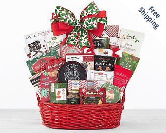 Merry Christmas Gift Basket FREE SHIPPING