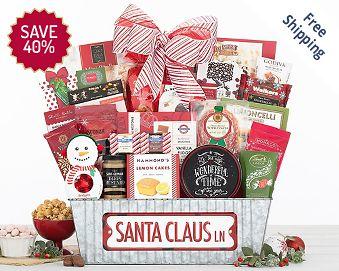 Santa Claus Lane Gift Basket FREE SHIPPING 40% Save Original Price is $ 100