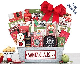 Santa Claus Lane Gift Basket FREE SHIPPING