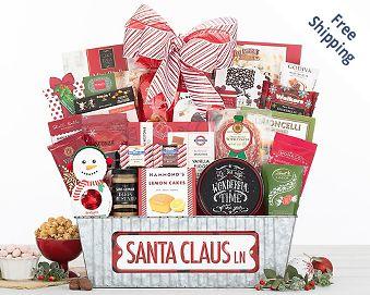 Santa Claus Lane Gift Basket FREE SHIPPING