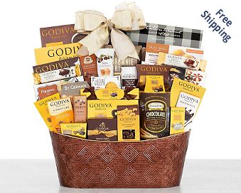 Godiva Sheer Indulgence Chocolate Gift Basket FREE SHIPPING