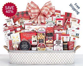 Holiday Extravaganza Gift Basket FREE SHIPPING 40% Save Original Price is $ 200.00