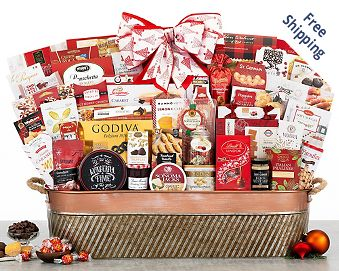 Holiday Extravaganza Gourmet Gift Basket FREE SHIPPING