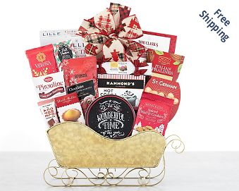 Chocolate and Sweets Holiday Sleigh FREE SHIPPING
