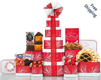 Deck the Halls Gift Tower FREE SHIPPING