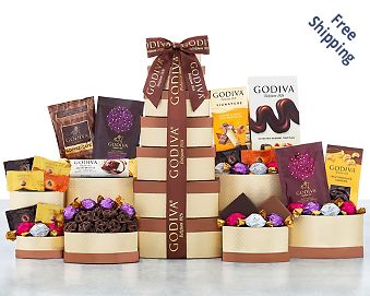 Godiva Chocolate Gift Tower Free Shipping