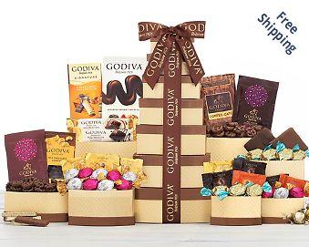 Godiva Chocolate Gift Tower FREE SHIPPING