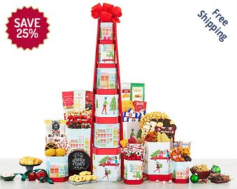 Deluxe Holiday Gift Tower FREE SHIPPING 25% Save Original Price is $ 100