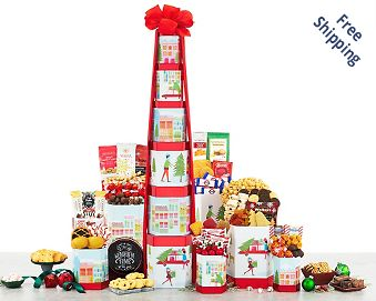 Deluxe Holiday Gift Tower FREE SHIPPING