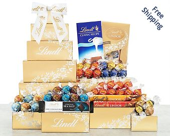 Deluxe Lindt Chocolate Tower FREE SHIPPING
