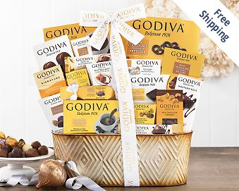 Godiva Pure Decadence Chocolate Gift Basket FREE SHIPPING