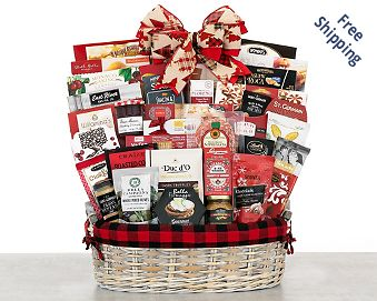 Crowd Pleaser Gourmet Gift Basket FREE SHIPPING