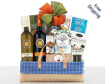 Val Serena Italian Wine Gift Basket FREE SHIPPING