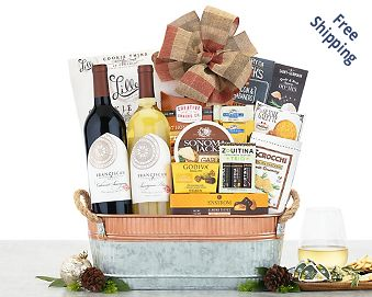 Beringer Founders' Estate Duet Wine Basket FREE SHIPPING