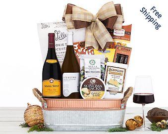 Mark West California Duet Wine Basket Gift Basket  Free Shipping