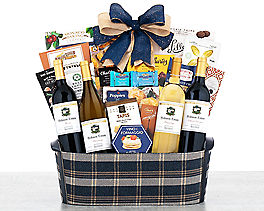 Suggestion - California Red and White Wine Quartet Gift Basket