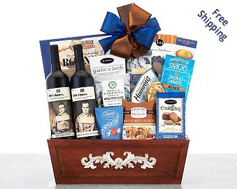 19 Crimes Wine Collection Gift Basket FREE SHIPPING