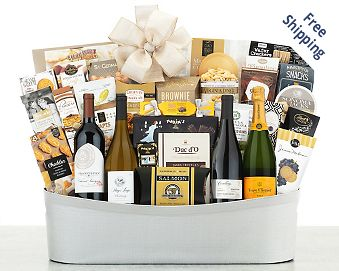 Fine Wine and Champagne Collection Gift Basket FREE SHIPPING