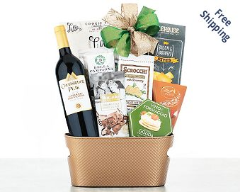 Edenbrook Vineyards Cabernet Wine Gift Basket Gift Basket  Free Shipping