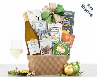 Cliffside Vineyards Chardonnay Wine Basket FREE SHIPPING