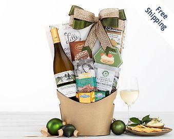 Cliffside Vineyards Chardonnay Wine Basket FREE SHIPPING