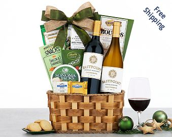 Edenbrook Vineyards Duet Wine Basket FREE SHIPPING