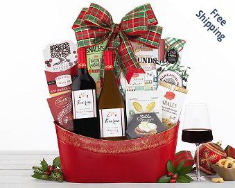 Kiarna Vineyards Holiday Tidings Wine Basket FREE SHIPPING