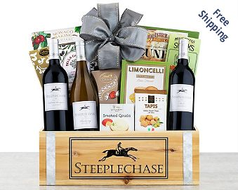 California Trio Wine Gift Basket FREE SHIPPING