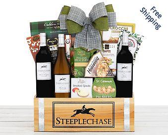 California Trio Wine Gift Basket FREE SHIPPING