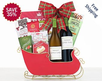 Little Lakes Cellars Holiday Sleigh FREE SHIPPING 35% Save Original Price is $ 85.00