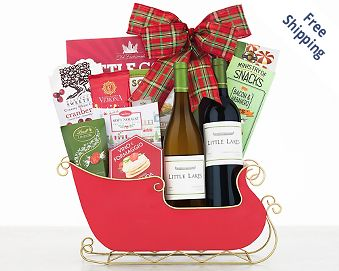 Little Lakes Cellars Holiday Sleigh FREE SHIPPING