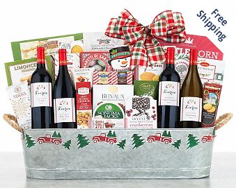 Steeplechase Vineyards Wine Basket FREE SHIPPING
