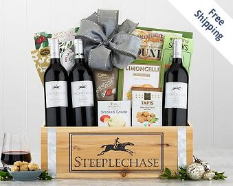 California Red Wine Trio Gift Basket FREE SHIPPING