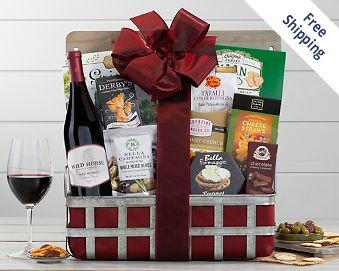 Wild Horse Red Blend Wine Gift Basket FREE SHIPPING
