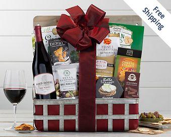 Wild Horse Red Blend Wine Gift Basket Gift Basket  Free Shipping