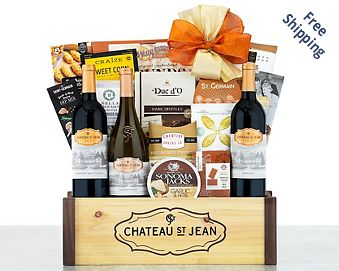Chateau Saint Jean California Gift Basket FREE SHIPPING