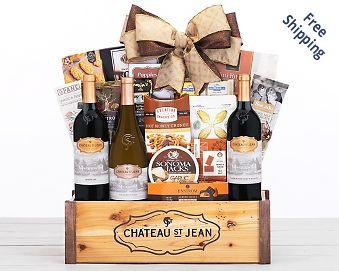 Chateau Saint Jean California Gift Basket FREE SHIPPING