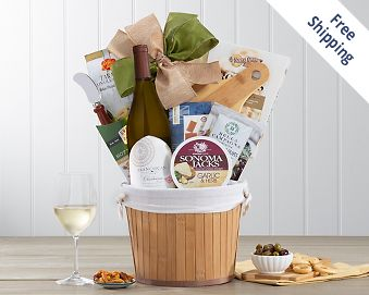 Franciscan Chardonnay Wine Gift Basket FREE SHIPPING