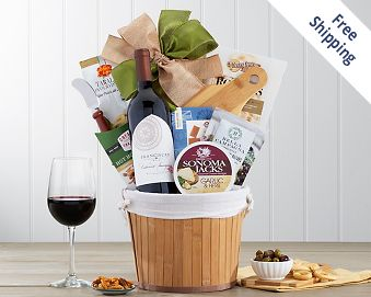 Franciscan Cabernet Sauvignon Wine Gift Basket FREE SHIPPING