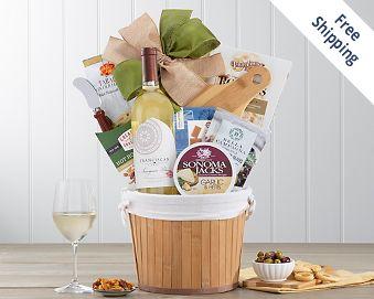 Franciscan Sauvignon Blanc Wine Gift Basket FREE SHIPPING