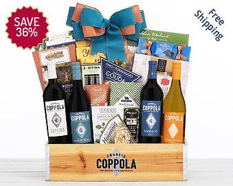 Rock Falls Vineyards Holiday Duet Wine Basket FREE SHIPPING 36% Save Original Price is $ 110.00