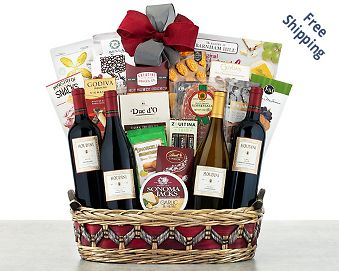 Houdini Napa Valley Collection Wine Basket FREE SHIPPING