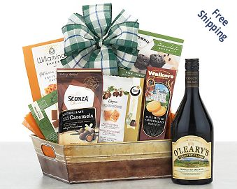 Cormac Farms Irish Cream and Chocolate Gift Basket  Free Shipping