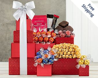 Lindt Chocolate and Sweets Gift Tower FREE SHIPPING