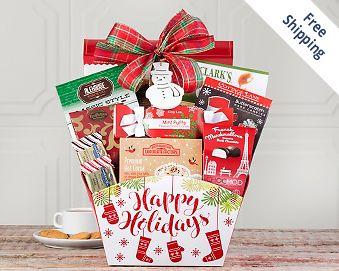 Christimas Greetings Gift Basket FREE SHIPPING