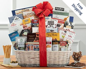 Gourmet Selection Gift Basket  Free Shipping